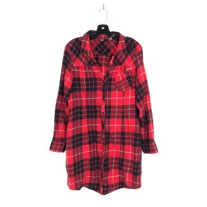[Urban Outfitters] BDG Red Flannel Button Down